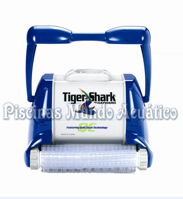 Limpiafondos autom tico electr nico tiger shark qc for Limpia piscinas automatico